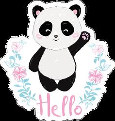 Cute Panda Waving Hello Sticker