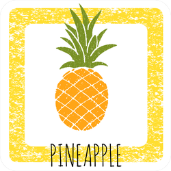 Cute Pineapple In A Frame Sticker
