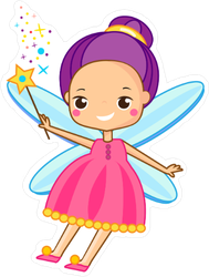 Cute Pink Fairy Sticker