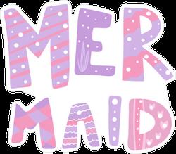 Cute Pink Mermaid Print Sticker
