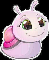 Cute Pink Snail Sticker