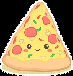 Cute Pizza Slice Cartoon Sticker