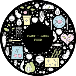 Cute Plant Based Food Doodles Sticker