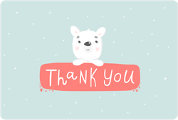 Cute Polar Bear Saying Thank You Sticker