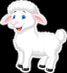 Cute Sheep Cartoon Sticker