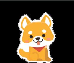 Cute Shiba Inu Dog Sticker
