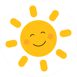 Cute Simple Smiling Sun Sticker