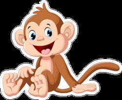 Cute Sitting Monkey Sticker