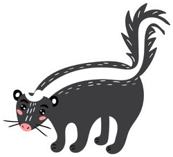 Cute Skunk Cheerful Skunk Illustration Sticker