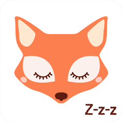 Cute Sleeping Fox Sticker