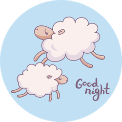 Cute Sleeping Sheep Good Night Sticker