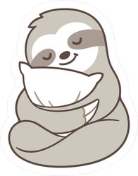Cute Sleepy Baby Sloth Sticker