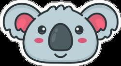 Cute Smiling Koala Bear Face Sticker