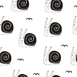 Cute Snail Illustration Pattern Sticker