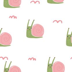 Cute Snail Pattern Sticker