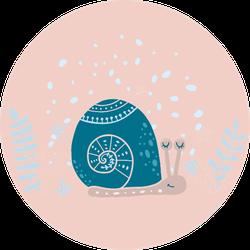 Cute Snail Underwater Sticker