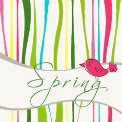 Cute Spring Bird Sticker