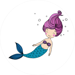 Cute Swimming Mermaid Sticker