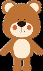Cute Teddy Bear Sticker
