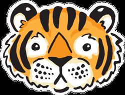 Cute Tiger Face Sticker