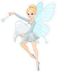 Cute Tooth Fairy Sticker
