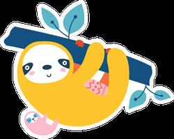 Cute Tropical Sloths Sticker
