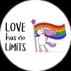 Cute Unicorn Gay Pride Sticker