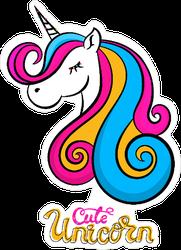Cute Unicorn Sticker