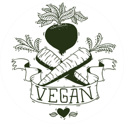 Cute Vegan Beets And Carrots Monochrome Sticker