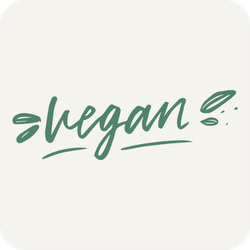 Cute Vegan Lettering Sticker