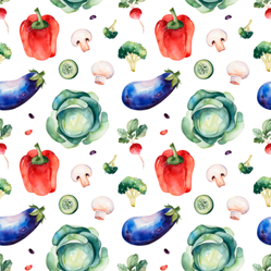Cute Watercolor Vegetables Sticker