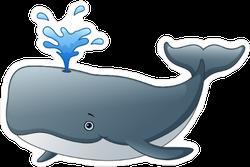 Cute Whale Cartoon Sticker
