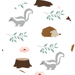 Cute Woodland Background With Skunk Sticker