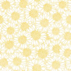 Cute Yellow Sunflower Design Sticker