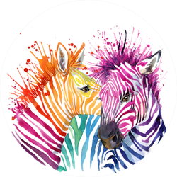 Cute Zebra Watercolor Illustration Sticker