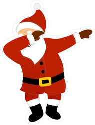 Dabbing Santa Sticker
