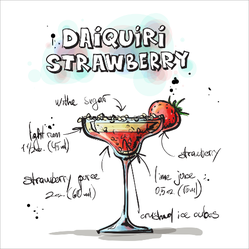 Daiquiri Strawberry Sticker