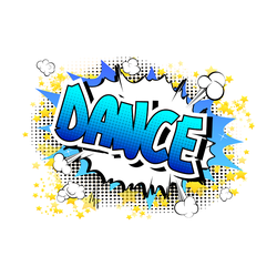 Dance Comic Book Style Text Sticker