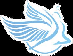 Dancing Angel Icon Sticker