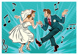 Dancing Bride And Groom Sticker