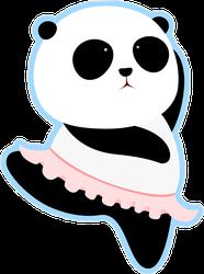 Dancing Giant Panda Ballerina Sticker