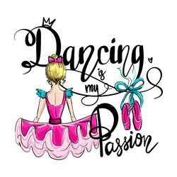 Dancing Is My Passion Circle Sticker