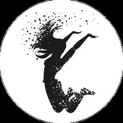 Dancing Woman Silhouette Sticker