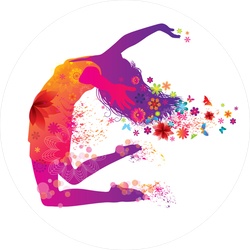 Dancing Woman With Flowers Stickers