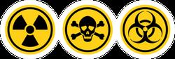 Danger Warning Circle Yellow Sign Radiation Sticker