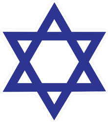 Dark Blue Star Of David Sticker