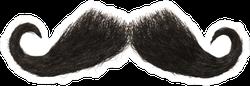 Dark Hairy Mustache Sticker