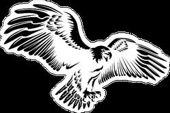 Dark Illustration Eagle Sticker