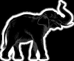 Dark Indian Elephant Sticker