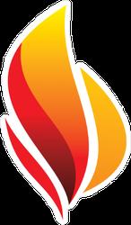 Dark Red Fire Sticker